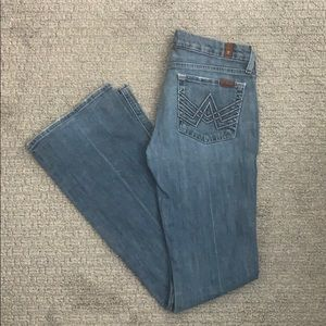 7 for all Mankind Bootcut Jeans Sz 27